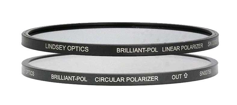 Lindsey Optics Brilliant Pol Circular Polarizer and Linear Polarizer